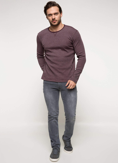 DeFacto Baskılı Slim Fit Body  Bordo